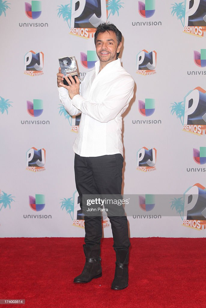 Eugenio Derbez poses in the press room during the Premio Juventud 2013 at Bank United Center on July 18, 2013 in Miami, Florida.