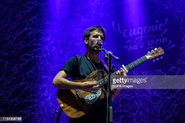 Eugenio in Via di Gioia performs live on stage during the music tour 2019 at the Stupinigi Sonic Park festival in Stupinigi