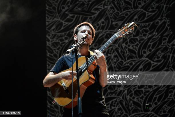 Eugenio in Via di Gioia performs live on stage during the music tour 2019 at the Stupinigi Sonic Park festival in Stupinigi