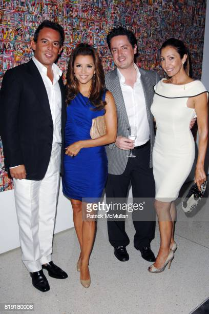 Eugenio Lopez Eva Longoria and Maria Bravo attend The First Annual Benefit Hosted By Los Angeles Nomadic Division at Private Residence on July 14...