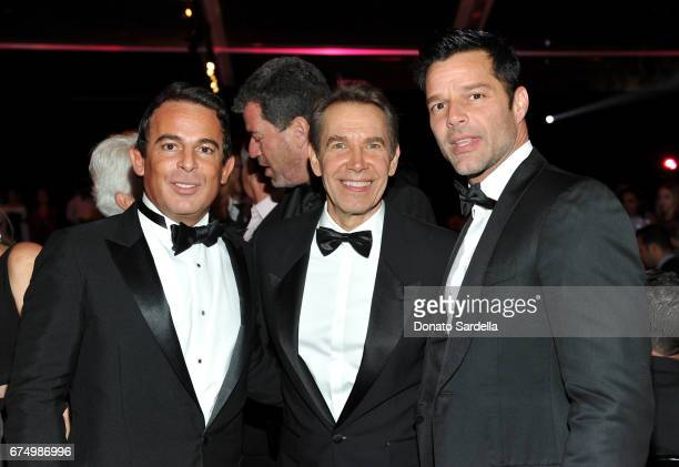 Eugenio Lopez Honoree Jeff Koons and singer Ricky Martin at the MOCA Gala 2017 honoring Jeff Koons at The Geffen Contemporary at MOCA on April 29...