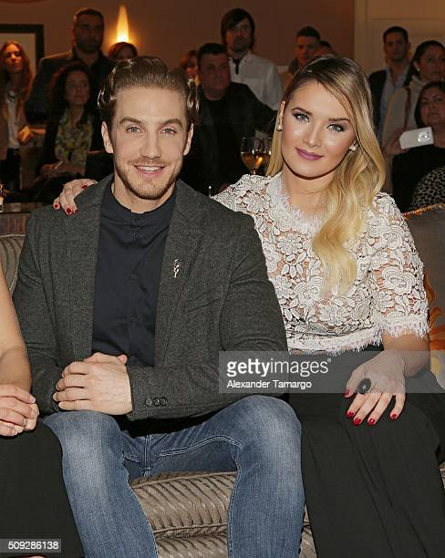 Eugenio Siller and Kimberly Dos Ramos are seen at the premier of Telemundo's Quien es Quien at the Four Seasons on February 9 2016 in Miami Florida