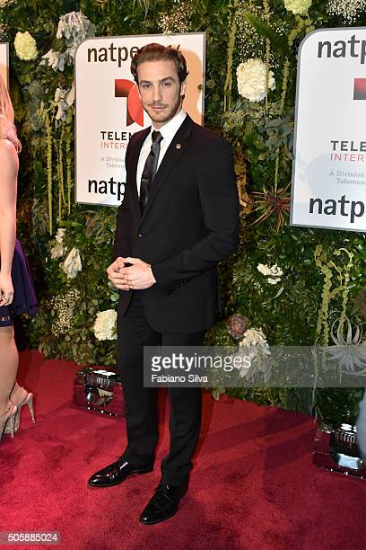 Eugenio Siller attends Telemundo NATPE party on January 19 2016 in Miami Beach Florida
