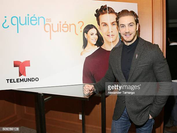 Eugenio Siller is seen at the premier of Telemundo's 'Quien es Quien' at the Four Seasons on February 9 2016 in Miami Florida