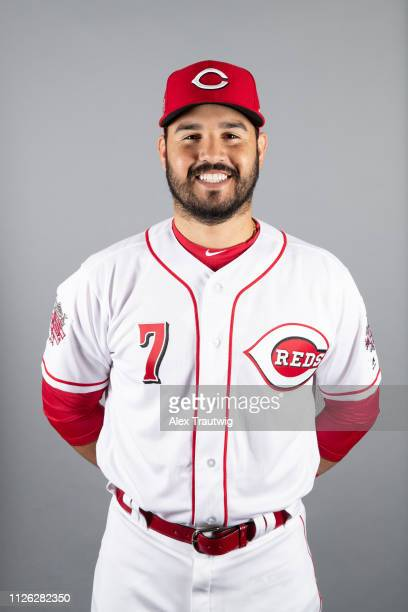 Eugenio Suarez of the Cincinnati Reds poses during Photo Day on Tuesday February 19 2019 at Goodyear Ballpark in Goodyear Arizona