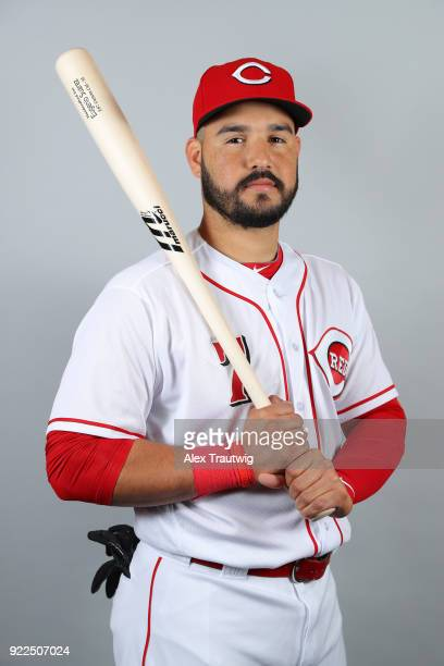 Eugenio Suarez of the Cincinnati Reds poses during Photo Day on Tuesday February 20 2018 at Goodyear Ballpark in Goodyear Arizona