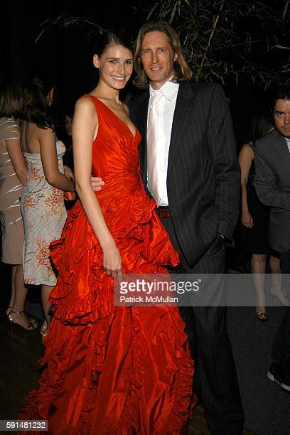 Eugina Volovian and Bruce Hoeksema attend Valentino Fragrance Launch Valentino V at the Four Seasons in New York at Four Seasons Restaraunt on May 19...