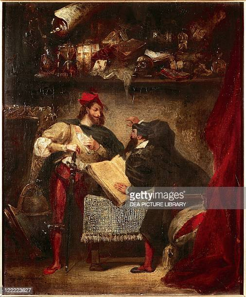 Eugène Delacroix Faust and Mephistopheles in the Studio