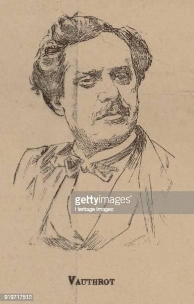 Eugène François Vauthrot Portrait from the Program to Oper Tannhäuser by Richard Wagner Paris Théâtre de l'OpéraL 1861 Found in the Collection of...