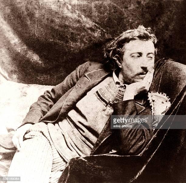 Eug��ne Henri Paul Gauguin , French painter born in Paris . Ca. 1885.
