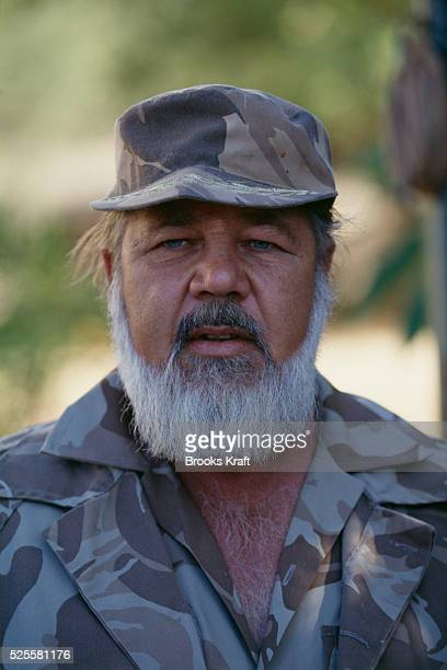 Eug��ne Terre'Blanche member of the right ring Herstigte Nasionale Party and founder and leader of the Afrikaner Weerstandsbeweging