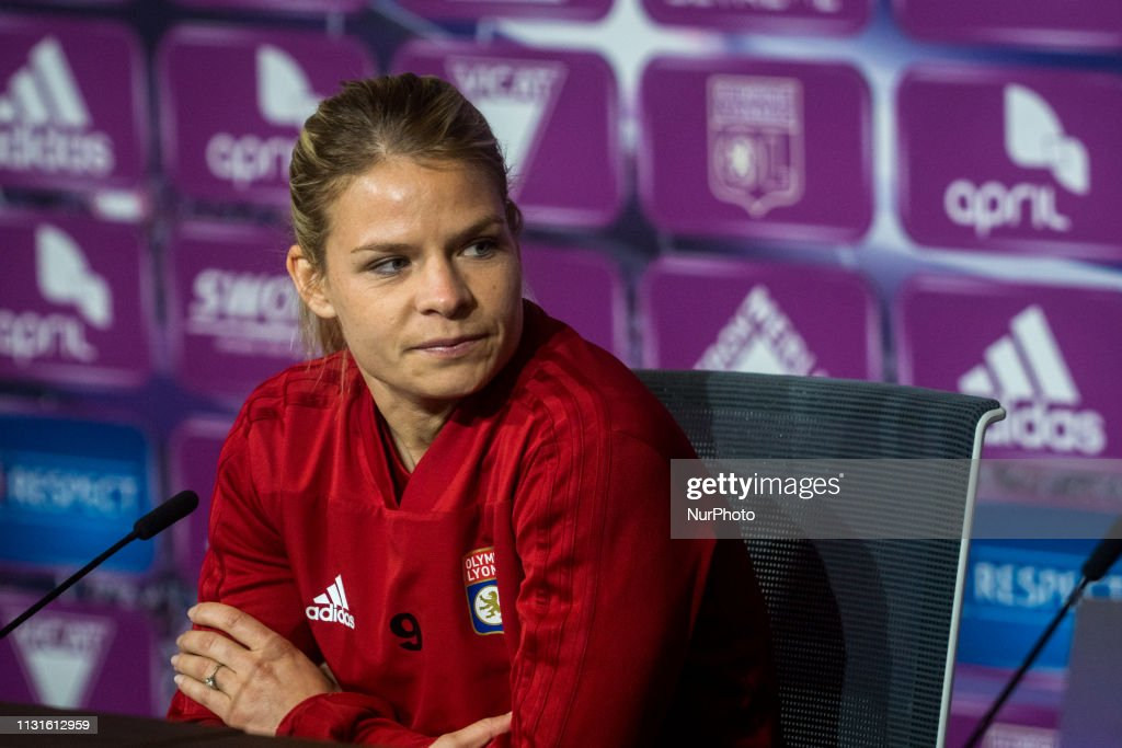 FRA: Press Conference Olympique Lyonnais And Wolfsburg - Semi-finals UEFA Women's Champions League