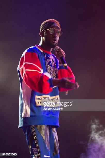 Eugy performs on stage during AFROREPUBLIK festival at The O2 Arena on May 26 2018 in London England
