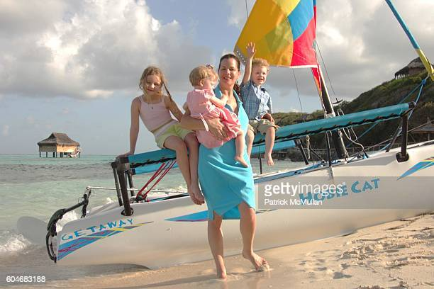 Eulala Grace Scheel Julitta Dee Harden Scheel Marcia Gay Harden and Hudson Harden Scheel attend Raffles Resort Canouan Island Family Fun at Godahl...