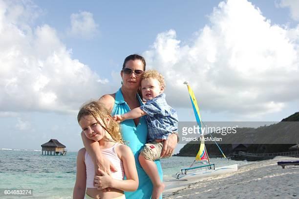 Eulala Grace Scheel Marcia Gay Harden and Hudson Harden Scheel attend Raffles Resort Canouan Island Family Fun at Godahl Beach at Raffles Resort on...