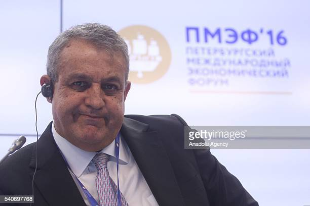 Eulogio Antonio Del Pino Diaz People's Minister for Petroleum and Mines of the the Bolivarian Republic of Venezuela attends Saint Petersburg...
