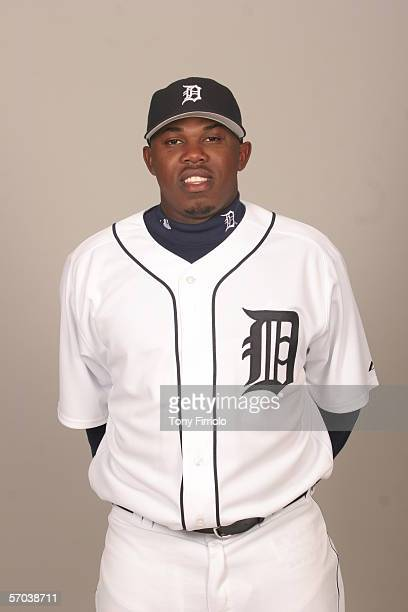 Eulogio De La Cruz of the Detroit Tigers during photo day at Marchant Stadium on February 26 2006 in Lakeland Florida