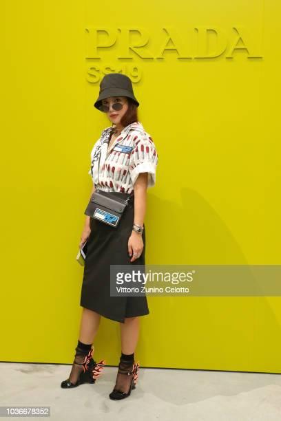 Eun Se Ki attends Prada Spring/Summer 2019 Womenswear Fashion Show on September 20 2018 in Milan Italy