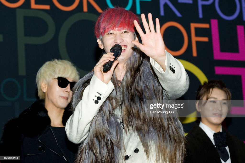Eunhyuk of South Korean boy band Super Junior arrives at the 2012 SBS Korea Pop Music Festival named 'The Color Of K-Pop' at Korea University on December 29, 2012 in Seoul, South Korea.