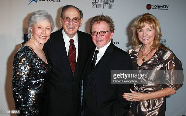 Eunice David lyricist Hal David recording artist Paul Williams and Mariana Williams attend Love Sweet Love a musical tribute to Hal David at the Mark...