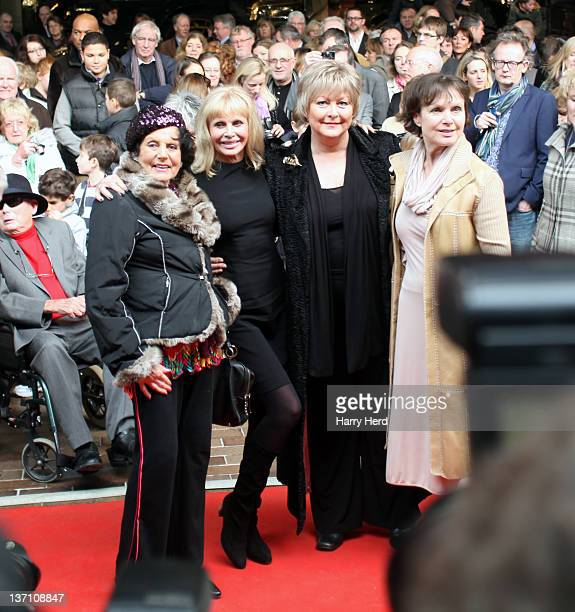 Eunice Gayson Britt Ekland Jenny Hanley and Madeline Smith attend the launch of 'Bond In Motion Launch Event The World's Largest Retrospective Of...