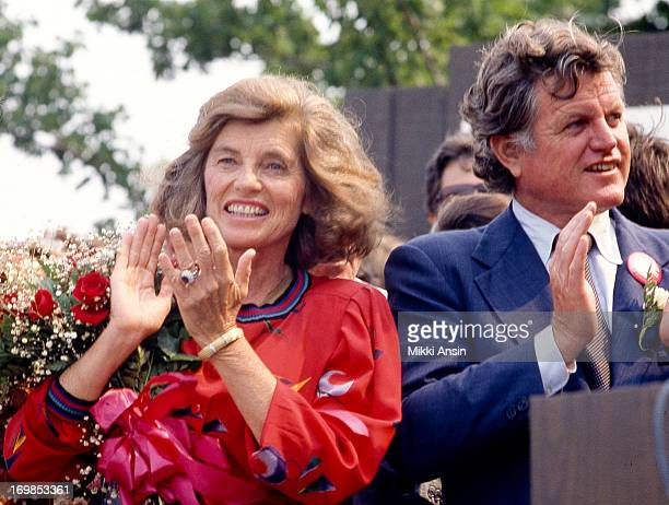 Eunice Kennedy Shriver and her brother, Senator Edward Kennedy, at celebrations for the 90th birthday of their mother, Rose Fitzgerald Kennedy,...