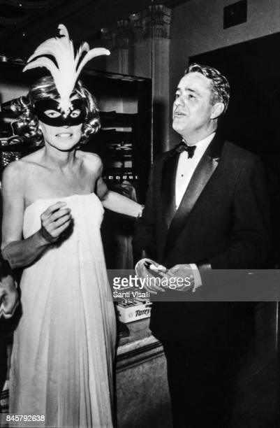 Eunice Kennedy with husband Sargent Shriver at Truman Capote BW Ball on November 28 1966 in New York New York