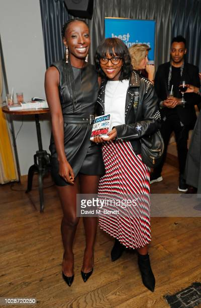 "Eunice Olumide and Brenda Emmanus attend an exclusive private book signing with supermodel & MBE Eunice Olumide for her new book ""How To Get Into..."