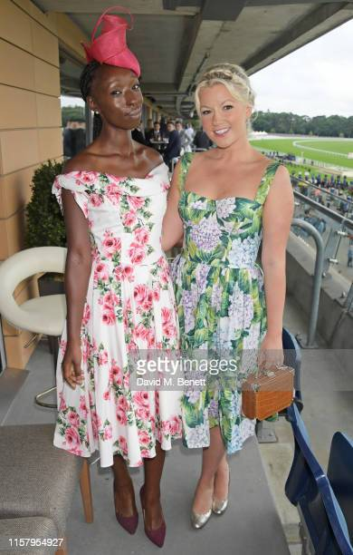 Eunice Olumide and Natalie Rushdie attend the King George Weekend at Ascot Racecourse on July 27 2019 in Ascot England