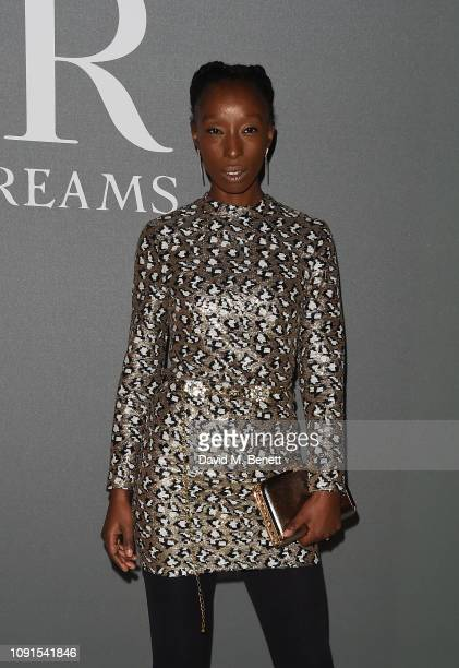 Eunice Olumide attends a private view of the 'Christian Dior Designer of Dreams' exhibition at The VA on January 30 2019 in London England