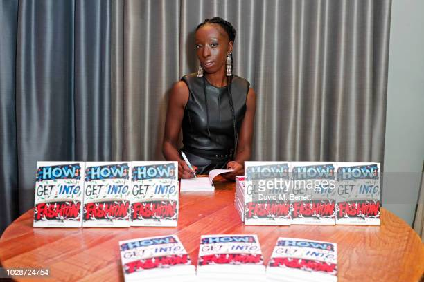 Eunice Olumide attends an exclusive private book signing with supermodel MBE Eunice Olumide for her new book 'How To Get Into Fashion' at The...
