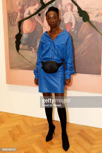 Eunice Olumide attends Pace Gallery Celebrates Julian Schnabel at 6 Burlington Gardens on May 16 2018 in London England