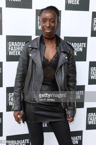 Eunice Olumide attends the Graduate Fashion Week Gala at The Truman Brewery on June 6 2018 in London England