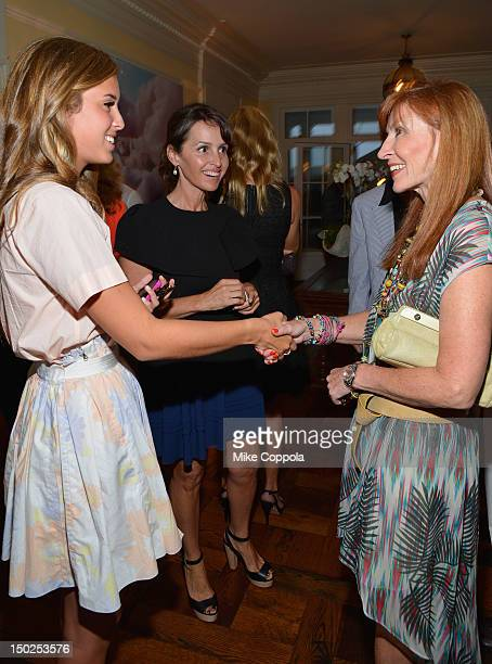 Eunice Shriver Alina Shriver and designer Nicole Miller attend the Fourth Annual Best Buddies Hamptons Gala Viva La France on August 11 2012 in Water...