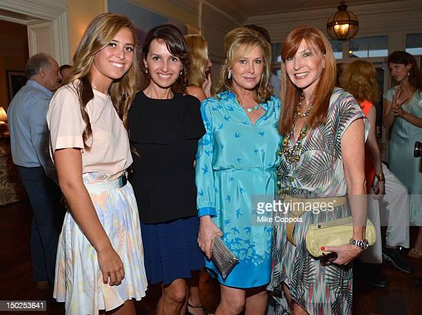 Eunice Shriver Alina Shriver Kathy Hilton and designer Nicole Miller attend the Fourth Annual Best Buddies Hamptons Gala Viva La France on August 11...