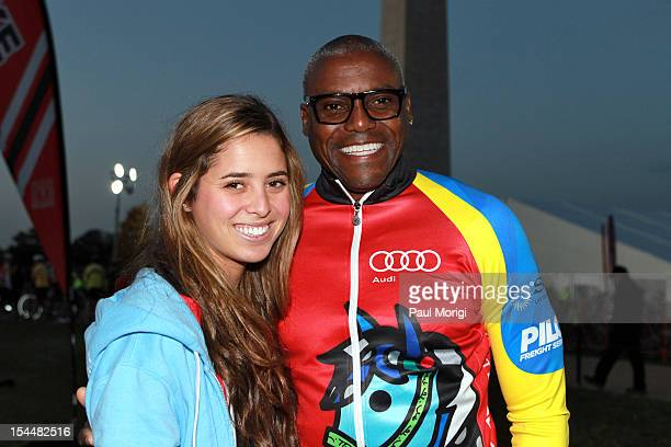 Eunice Shriver and Carl Lewis attend the Audi Best Buddies Challenge Washington DC on October 20 2012 in Washington DC