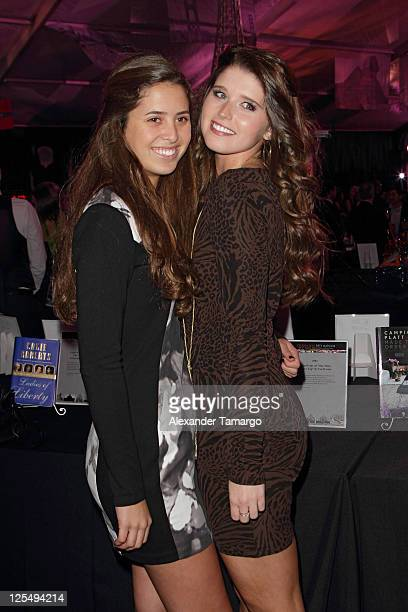 Eunice Shriver and Katherine Schwarzenegger attend the Fourteenth Annual Best Buddies Miami Gala Celebrating Fifty Nations on November 19 2010 in...