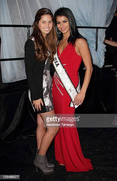 Eunice Shriver and Miss USA Rima Fakih attend the Fourteenth Annual Best Buddies Miami Gala Celebrating Fifty Nations on November 19 2010 in Miami...