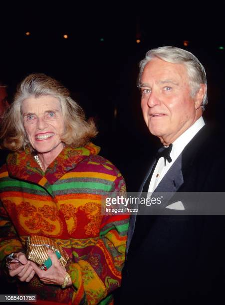 Eunice Shriver and Sargent Shriver circa 1986 in New York City
