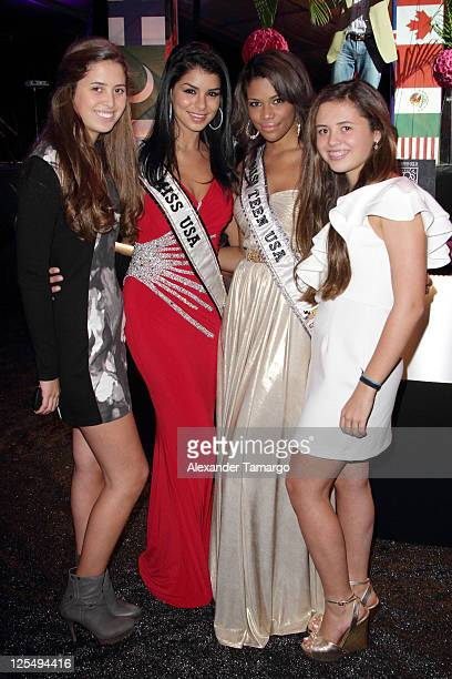 Eunice Shriver Miss USA Rima Fakih Miss Teen USA Kamie Crawford and Chessy Shriver attend the Fourteenth Annual Best Buddies Miami Gala Celebrating...