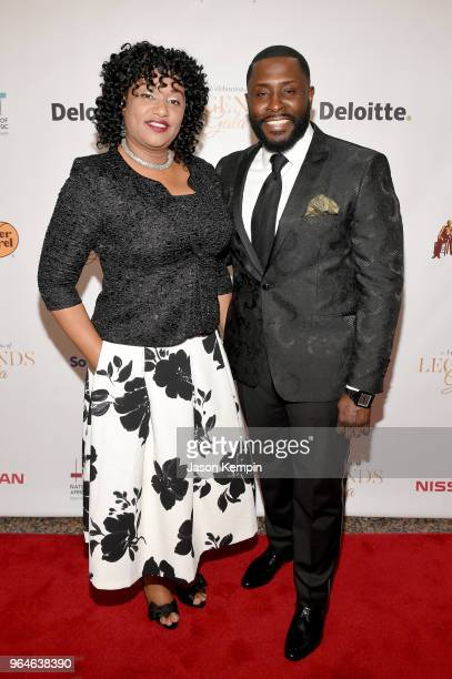 Eunissa Warnock and host Akintunde Warnock attend NMAAM Celebration of Legends Gala on May 31 2018 in Nashville Tennessee
