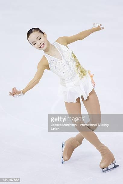 Eunsoo Lim of Korea competes during the Junior Ladies Free Skating on day three of the ISU Junior Grand Prix of Figure Skating on September 24 2016...