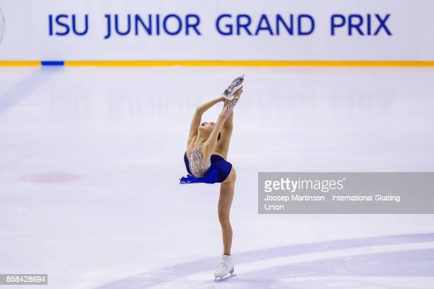 Eunsoo Lim of Korea competes in the Ladies Free Skating during day two of the ISU Junior Grand Prix of Figure Skating at Olivia Ice Rink on October...