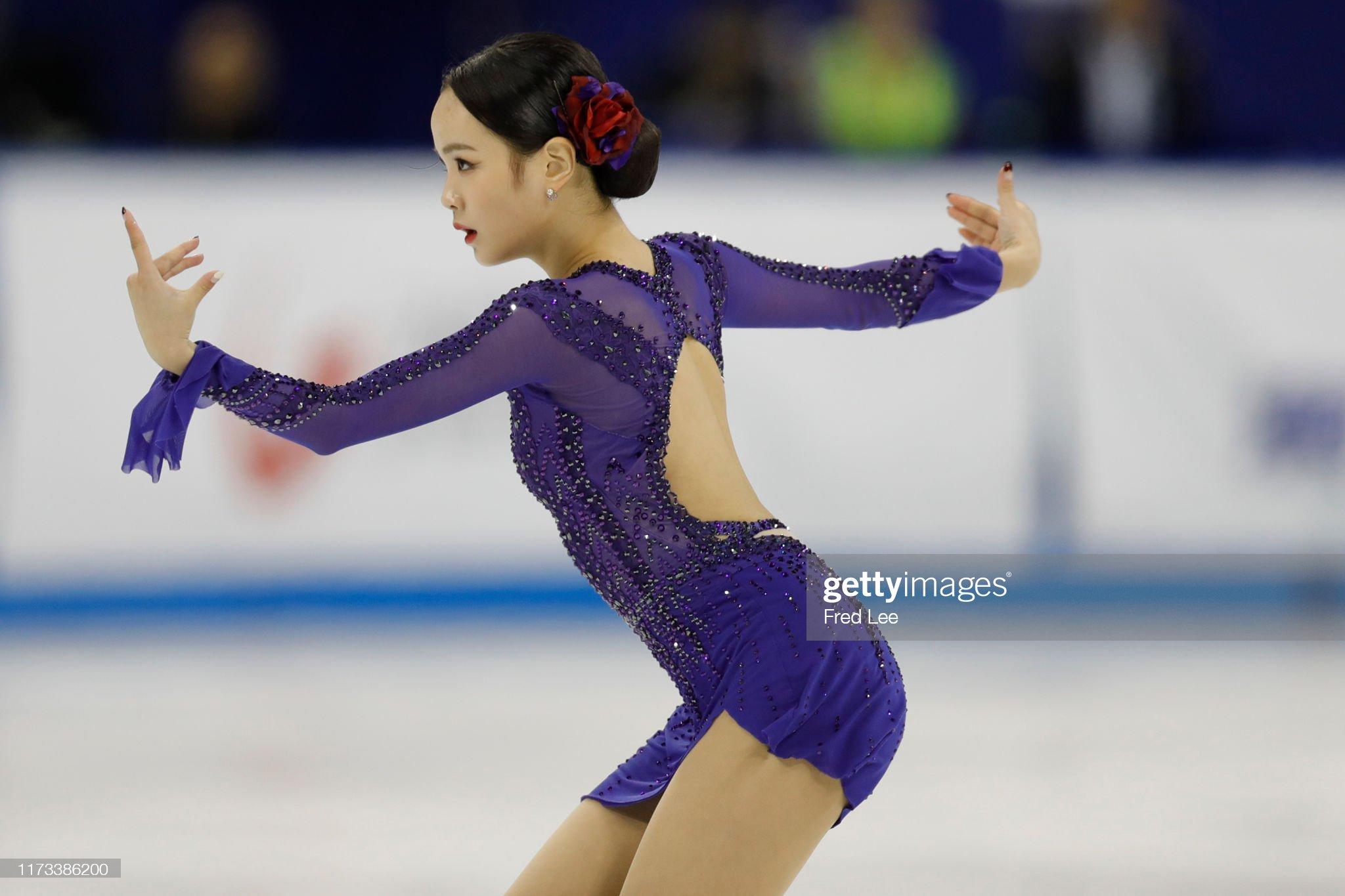 Shanghai Trophy (Invitational). 3-5 октября 2019. Шанхай (Китай) - Страница 3 Eunsoo-lim-of-korea-competes-in-the-ladies-short-program-during-the-picture-id1173386200?s=2048x2048