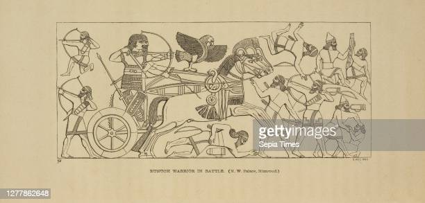 Eunuch warrior in battle, Nineveh and its remains, with an account of a visit to the Chaldaean Christians of Kurdistan, and the Yezidis, or...