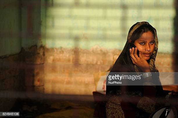 Eunuchs or Hijra as they are commonly called in this part of the world around Kolkata gathered in a mosque/mazar near Kolkata on March 21, 2015 to...