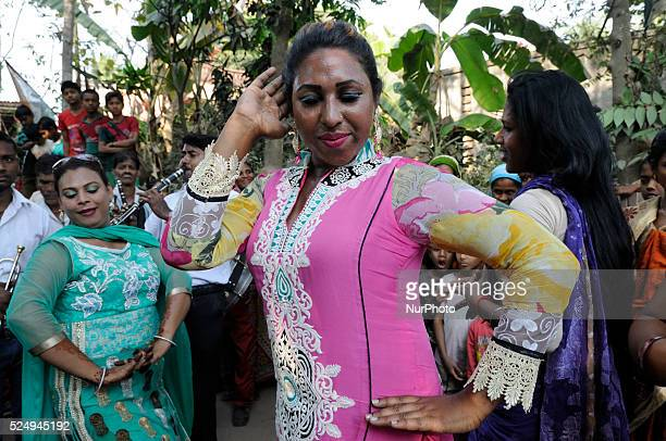 Eunuchs or Hijra as they are commonly called in this part of the world around Kolkata gathered in a mosque/mazar near Kolkata on March 21 2015 to...