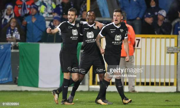 20180203 Eupen Belgium / As Eupen v Kaa Gent / 'nMamadou KONE Celebration'nFootball Jupiler Pro League 2017 2018 Matchday 25 / 'nPicture by Vincent...