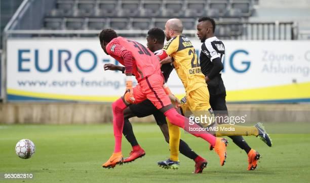 20180428 Eupen Belgium / Kas Eupen v Sporting Lokeren / 'nBabacar NIASSE Moussa WAGUE Steve DE RIDDER Silas GNAKA'nFootball Jupiler Pro League 2017...