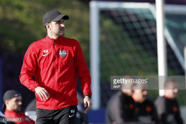 Eupen coach Benat San Jose during a international friendly match between PSV Eindhoven and KAS Eupen at Aspire Academy on January 11, 2020 in Doha,...